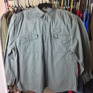 FADED GLORY Button Down XL grey